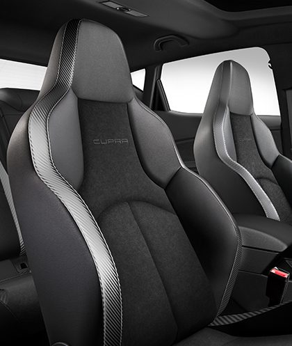 Sporty og kraftfuldt udseende design seat leon cupra for Seat ibiza cupra interior